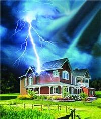 Молниезащита зданий, молниеприемник г.Яровое